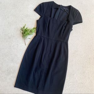 Banana Republic a Black Square Neck Dress